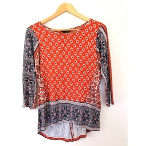 Lucky Brand Bandanna Print 3/4 Length Shirt
